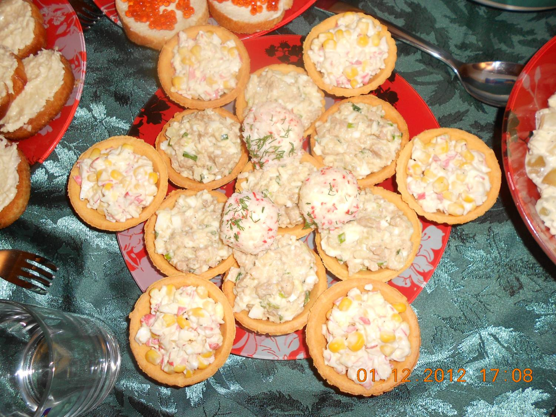 Тарталетки с яйцом и крабовыми палочками пошаговый рецепт